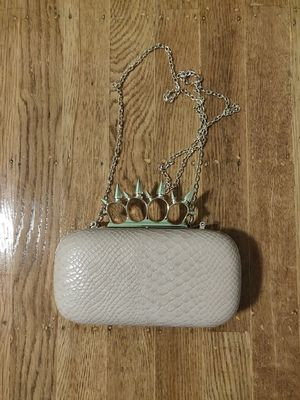 Nude Faux Alligator Skin Clutch/Crossbody Purse for Sale in San Francisco, CA