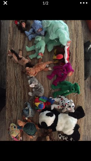 Beanie babies 2.00 a piece many with tags for Sale in Escalon, CA