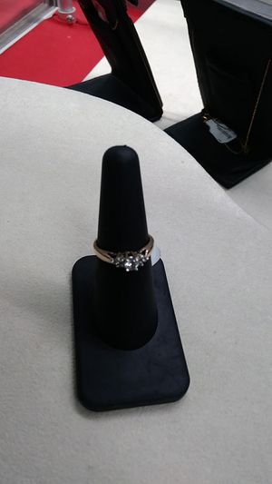 Size 7.5 10kt gold diamond ring for Sale in Fargo, ND