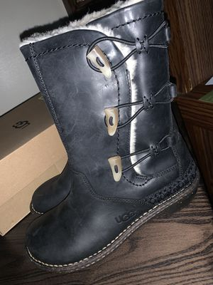 BRAND NEW - Black Leather UGG Boots for Sale in Douglasville, GA