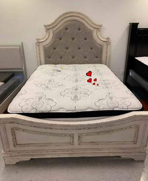 ♻️New Ashley ♻️4 piece White Panel Bedroom Set for Sale in Jessup, MD