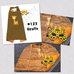 Giraffe Cape and Mask Set (Great for Easter Baskets!) for Sale in South Jordan, UT