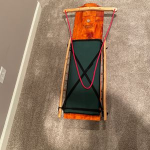 Mountain Boy Sled works Ultimate Flyer Sled Like New Wood Sled for Sale in Barrington, IL