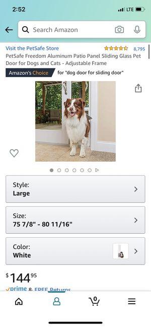 Glass Sliding door doggy door for Sale in Norco, CA