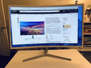 New Samsung 32 Full HD Curved Screen LED TFT LCD Monitor Glossy White MagicBright FreeSync Technology Eco Saving Plus Eye Saver VGA HDMI, FHD 1080p for Sale in Los Angeles, CA