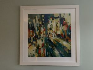 Framed city abstract picture for Sale in Madison, NJ