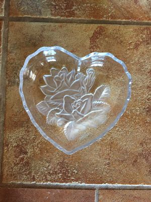 Crystal Heart Plate for Sale in San Diego, CA