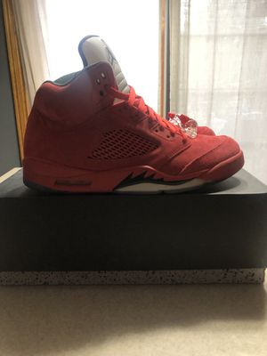 Retro Jordan 5 Red Suede Mens Size 11 for Sale in Bloomington, IL