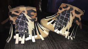 Cowboy boots fringe cuffs for Sale in Richmond, TX