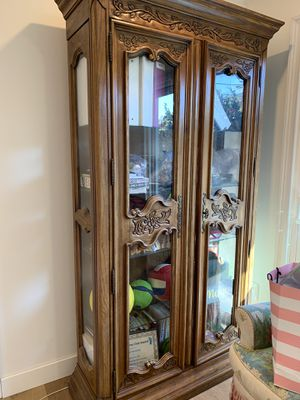 Gorgeous antique wood armoire. for Sale in San Diego, CA