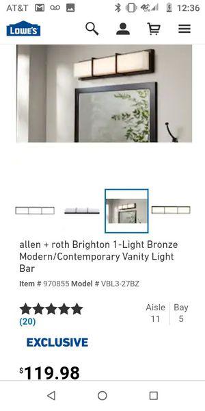 Allen + Roth Brighton 1-Light Bronze Modern/Contemporary Vanity Light Bar for Sale in Oakley, CA
