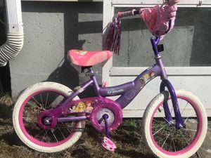 "Girls princess 16"" bike for Sale in Brockton, MA"