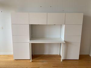 Modern Modular White Desk with Cabinets for Sale in Chicago, IL