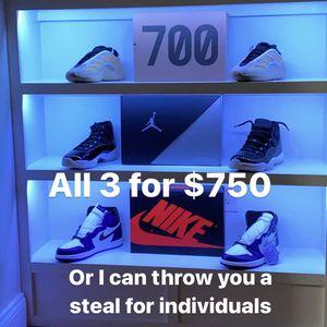 Jordan 1, Jordan 11, Yeezy Safflower for Sale in Manassas, VA