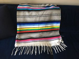 Colorful Mexican blanket cotton for Sale in Cleveland, OH