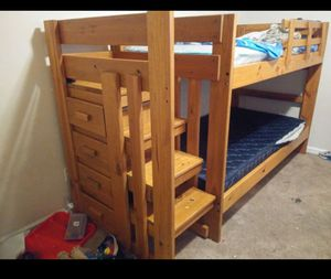 Bunk bed with stairs for Sale in Suffolk, VA
