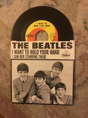 The Beatles I Want To Hold Your Hand single vinyl 45 with sleeve for Sale in Austin, MN