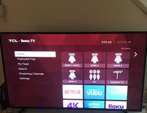 "55"" SMART TCL ROKU TV 4K ultraHd for Sale in Valparaiso, IN"
