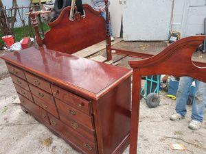 Bed Frame & Dresser for Sale in Norfolk, VA
