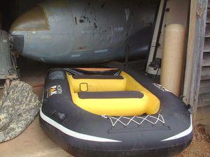 Inflatable Boat, Wood Transom, Northpak Heavy Duty, Oars, Carry Bag. for Sale in Ellijay, GA