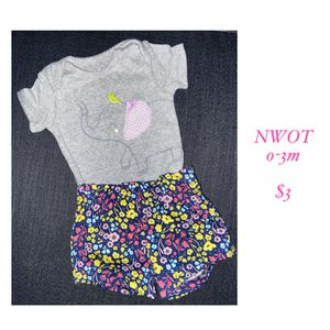 0-3 month elephant baby girl outfit for Sale in Sherwood, OR