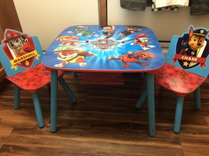 Paw Patrol kiddie table & chair set for Sale in Washington, DC