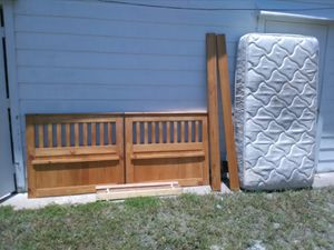 Bed frame plus mattress for Sale in Wauchula, FL