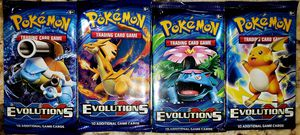 Pokemon EvolutionS Sealed 10 Card Booster Packs 1 of Each Pack Image! MiNt for Sale in Lafayette, OR