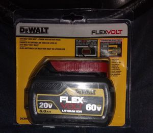 DeWalt Flexvolt 20V/60V Max Lithium-Ion Battery Pack Size 6.0 AH for Sale in Dallas, TX