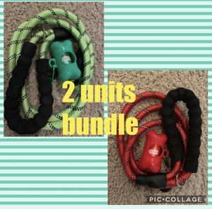 5 FT Dog Leash, Rope Leash with Comfortable Padded Handle and Reflective Threads, Heavy Duty Braided Leash for Medium Large Dogs for Sale in Irwindale, CA