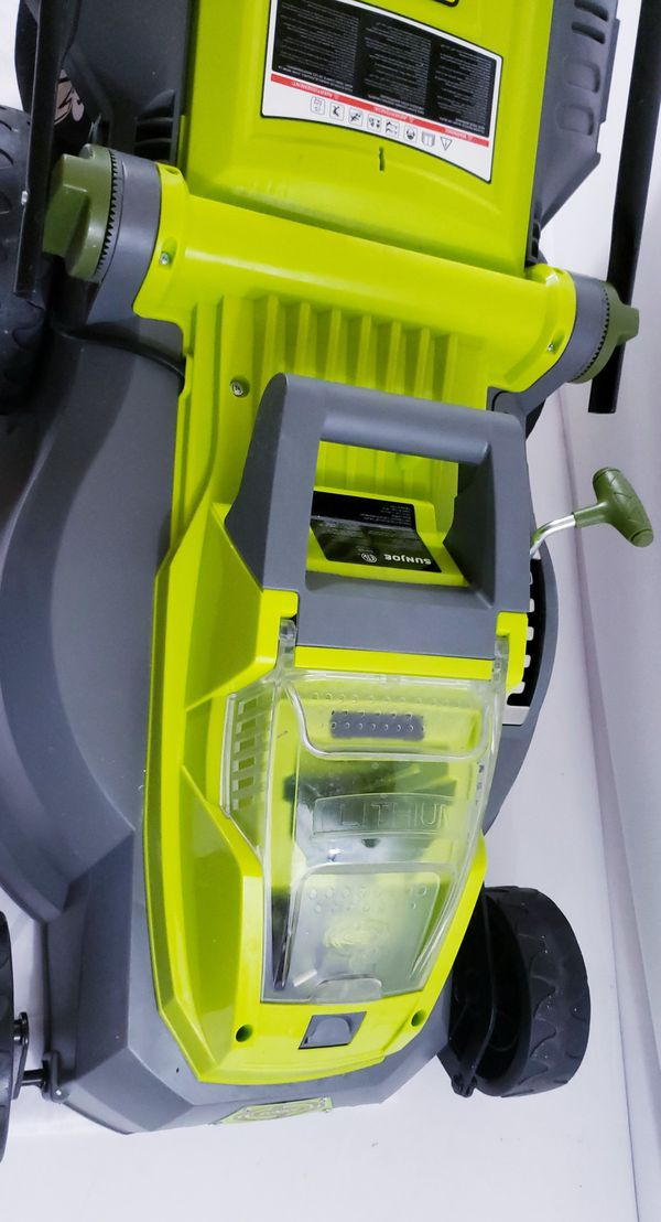 the Sun Joe iON16LM cordless lawn mower!