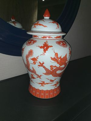 "18"" Tall Oriental Dragon Jar w/ Lid for Sale in Fairfax, VA"