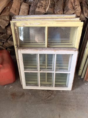 Antique wavy glass wood window sash for Sale in Pepperell, MA
