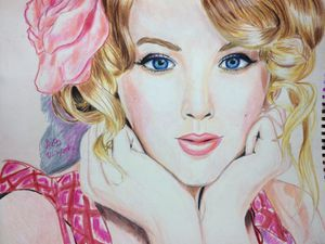 Taylor swift prismacolor drawing for Sale in Centerville, GA
