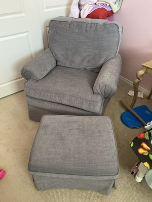 Rocking recliner with ottoman for Sale in Tustin, CA