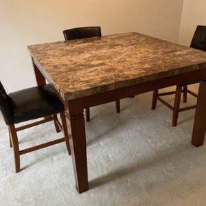 Marble & Cherry Table for Sale in Fairfax, VA