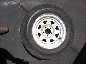 "1 Trailer wheel good tire 15"" 5 lugs. 95% left for Sale in Las Vegas, NV"