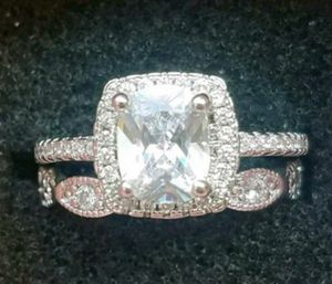 Cushion cut 925 Sterling silver set for Sale in Baltimore, MD
