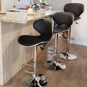 Set of 3 Black chairs bar stools new in box✔ for Sale in Clifton, NJ