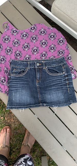 Juniors Jean Denim Mini Skirt by Candie's Size 5 for Sale in Winter Park, FL