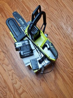 Ryobi 18V Chainsaw, Battery, Charger for Sale in Temple, TX