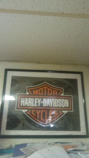 Harley Davidson puzzle picture framed for Sale in Marengo, OH
