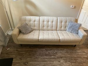 White Leather Couch for Sale in Columbus, OH