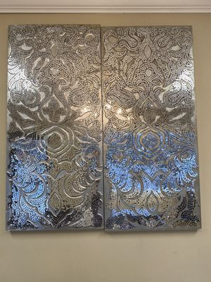 2 pier 1 mirrored mosaic panels for Sale in Commack, NY