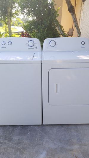 Super Super nice Amana washer and dryer set for Sale in Port St. Lucie, FL