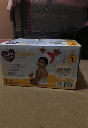 Parents choice size 1 holiday diapers 96 pack for Sale in Detroit, MI