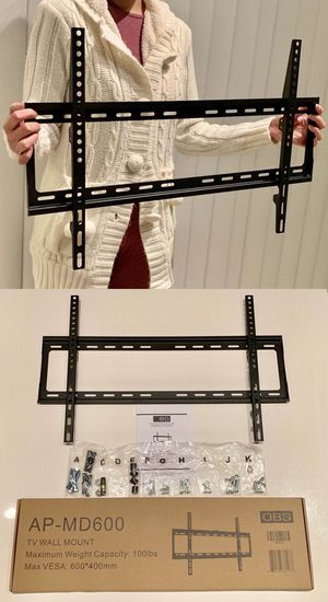 "New universal 32 to 65 inch LCD LED Plasma Flat Fixed TV Wall Mount stand 32 37"" 40"" 42 46"" 47 50"" 52 55"" 60 65"" inch tv television bracket 100lbs ca for Sale in Whittier, CA"