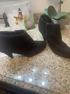 Black Ankle suede booties for Sale in Anaheim, CA