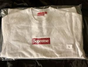 """DS Brand New Supreme Box Logo Crewneck Sweater """"Ash Grey"""" Size L for Sale in Miami, FL"""