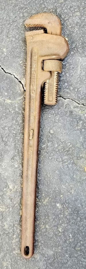 """Vintage 24"""" Ridgid Pipe Wrench Heavy Duty for Sale in Pataskala, OH"""